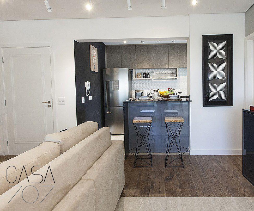 Sala E Cozinha Conjugada Projetada Pela Casa 707 Interiores Com Os  -> Sala Simples Projetada