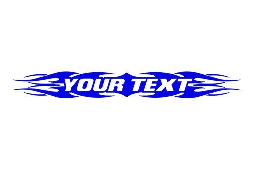 Sticky creations design your custom text personalized customized lettering tribal flame windshield decal sticker vinyl graphic rear back window banner car