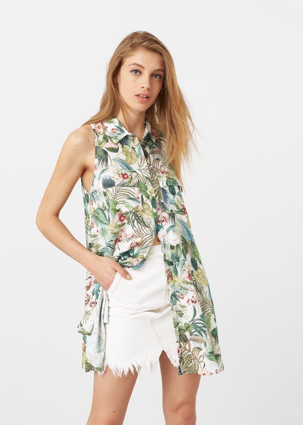 8930375e2 Vestido camisero estampado - Mujer