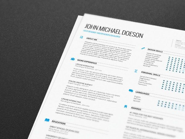 FREE Resume + Cover Letter by Demorfoza, via Behance resume - resume templates for indesign