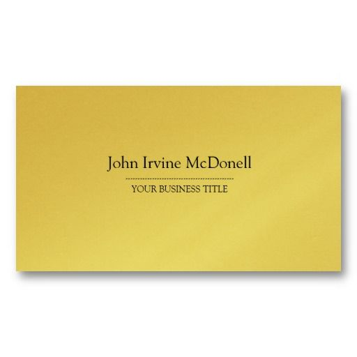 Gold plain simple luxurious business card business cards and gold plain simple luxurious business card reheart Images