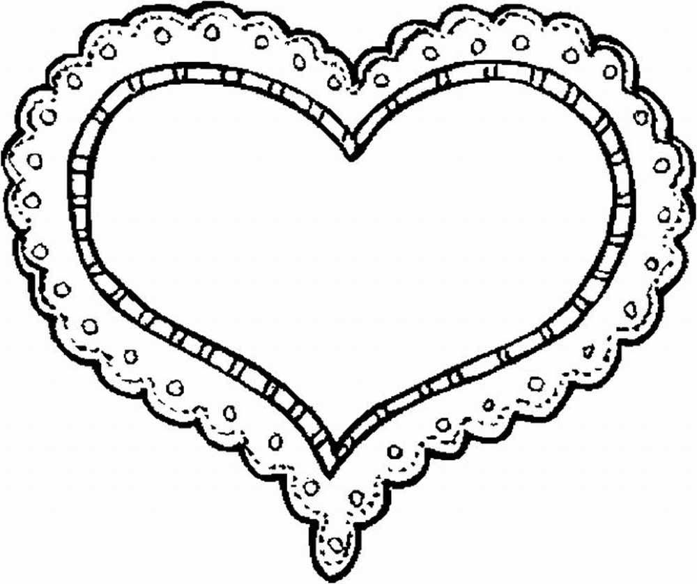 Corazon Con Encaje Sensual Para El 14 De Febrero Colorear