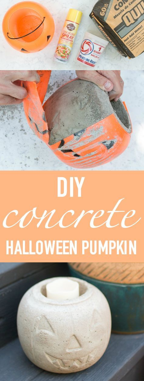 Halloween How To Make A Diy Concrete Pumpkin Halloween Diy Crafts Concrete Diy Halloween Crafts To Sell