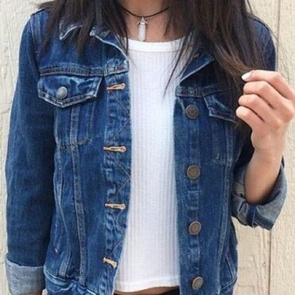Jean Jacket Medium wash faded jean jacket. Designed to look used with various marks but no rips. Tagged as a medium but runs small   - Condition: barely used  - Cover photo: tumblr  - Material: 100% cotton  ❌ No trades ❌ ✅ Use offer button ✅ Mudd Jackets & Coats Jean Jackets
