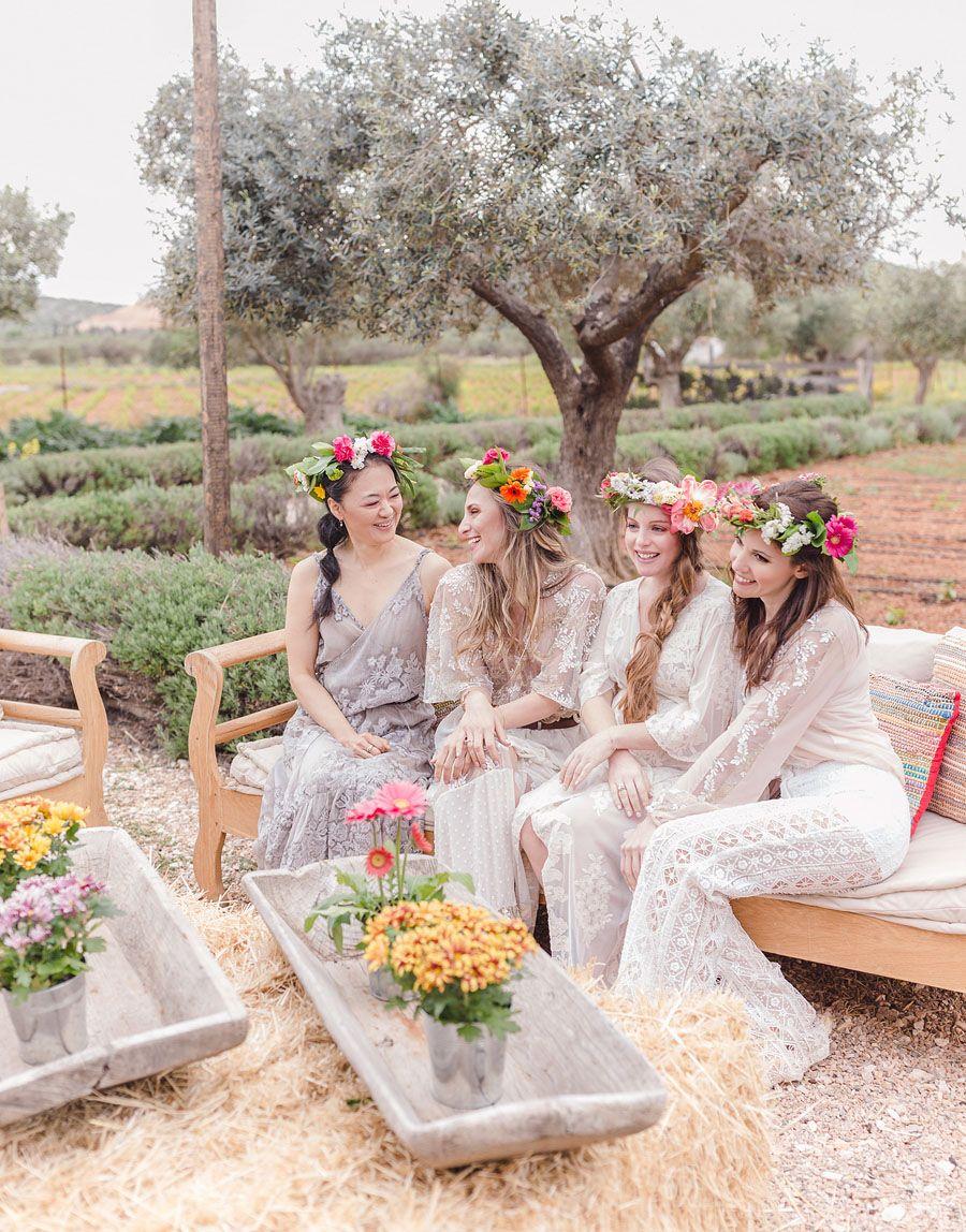 A Bachelorette Party on a Flower Farm in Greece