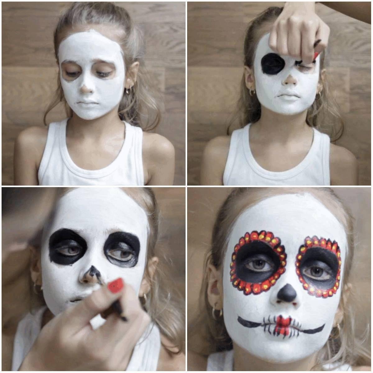 Step-by-Step: Sugar Skull Makeup | QueRicaVida.com | Halloween ...