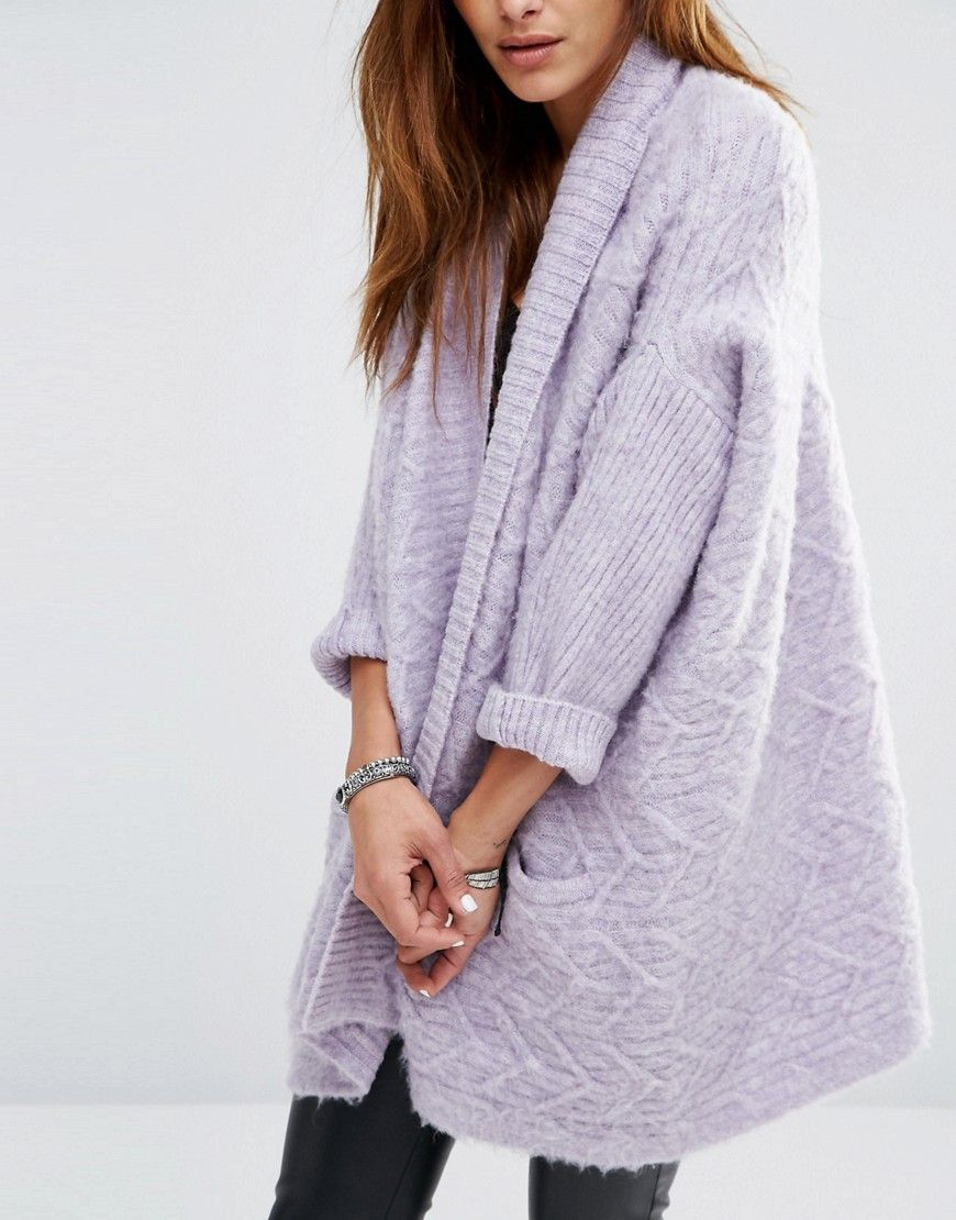 Image 3 of Religion Luxury Waterfall Cardigan In Fluffy Knit | My ...