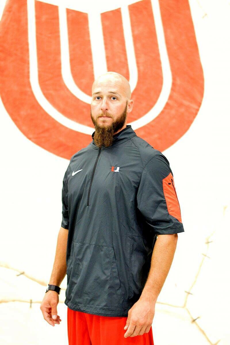 Coach nathan foster a 5th year with unionfb graduate