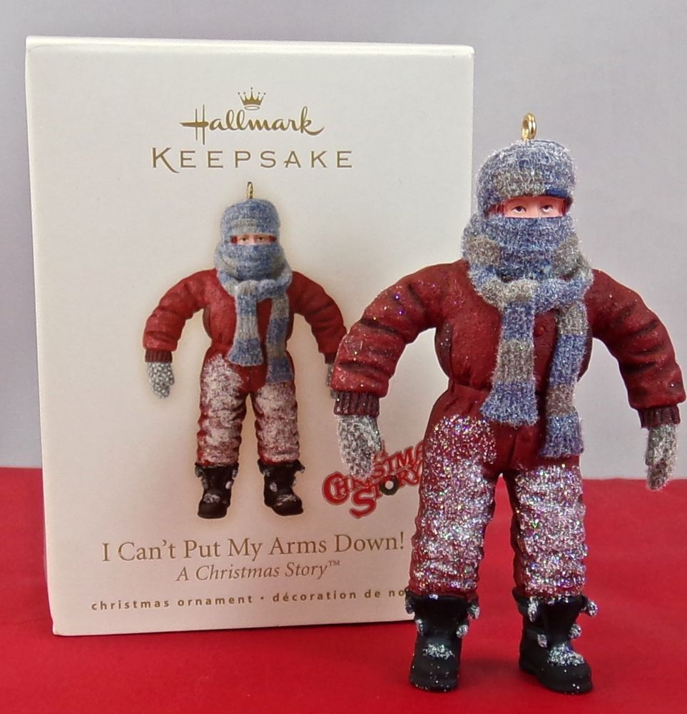 Hallmark i can t put my arms down a christmas story 2007 ornament nib
