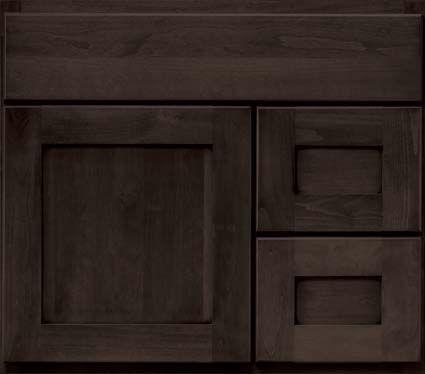 bertch cabinet Osage style cherry wood shale finish   Bathroom ...