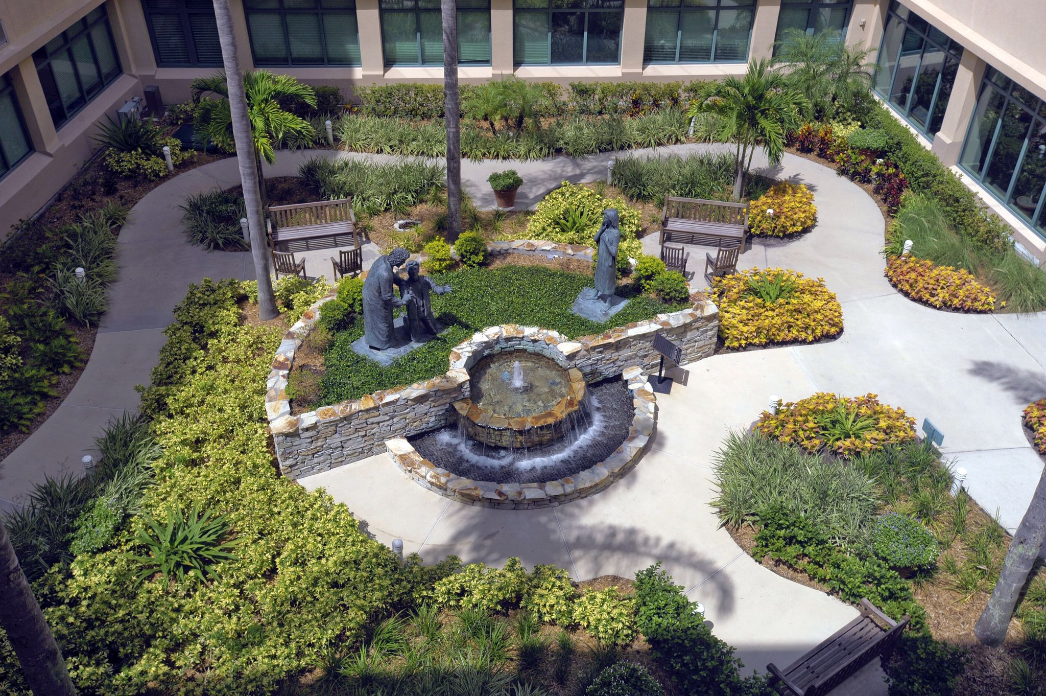 the healing garden at florida hospital celebration health  an acute care facility located in