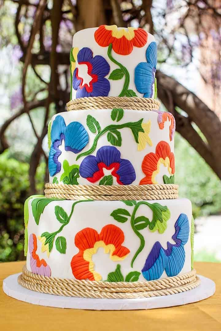 Mexican Wedding Cakes.42 Exciting Colourful Mexican Wedding Cake Ideas Cakes