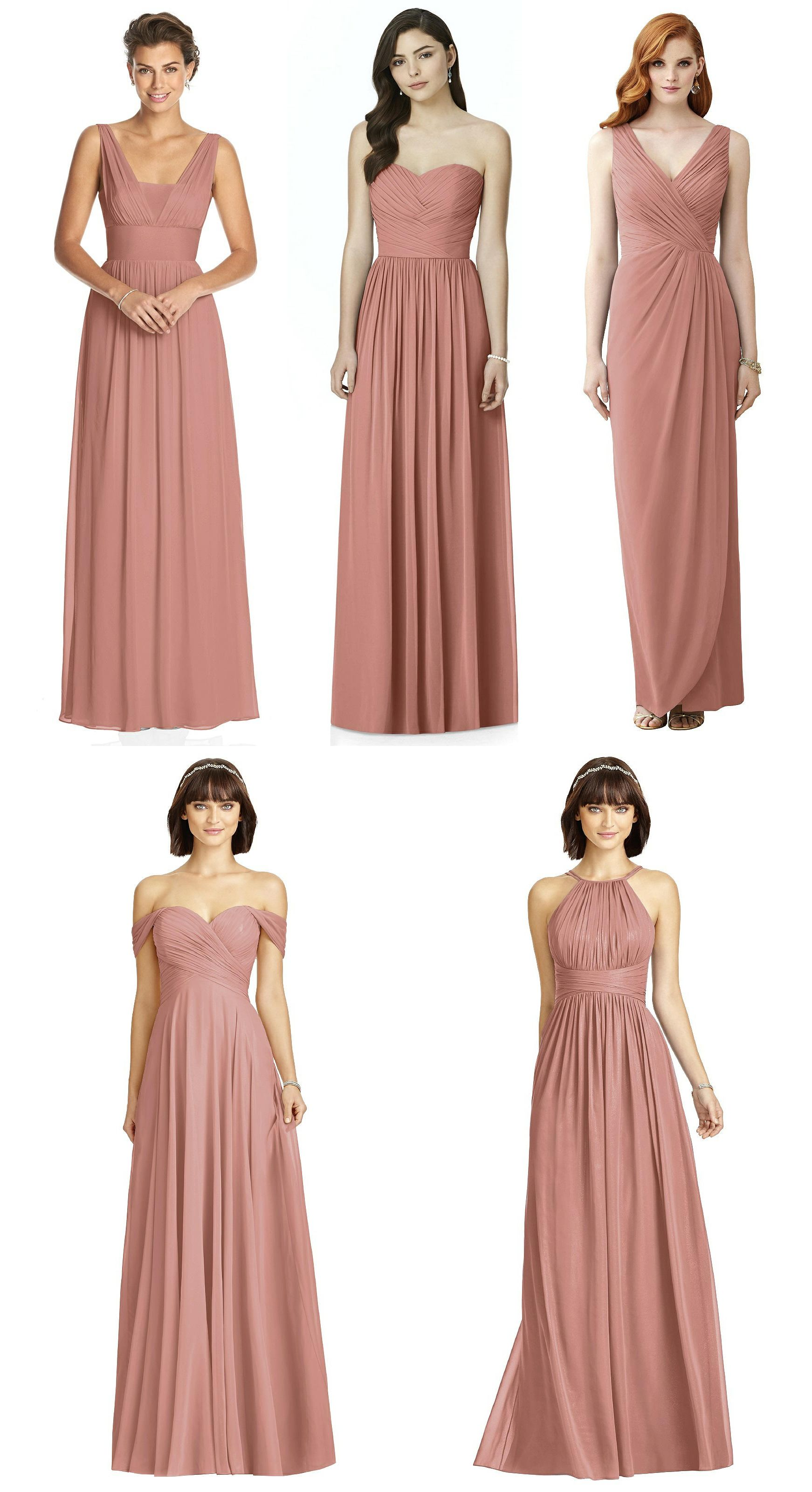 Dessy Desert Rose Bridesmaid Dresses 3026 2991 2958 2970 And 2969 Dessy Bridesmaid Dresses Rose Bridesmaid Dresses Bridesmaid Colors