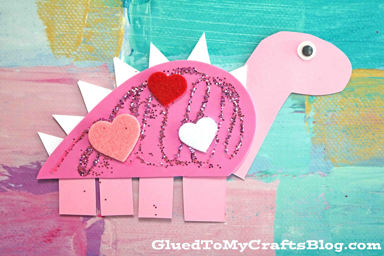 La espuma del arte Valentine dinosaurio - Kid Craft