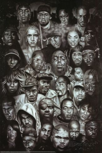 Rap Gods Rapper Collage Music Poster Print Poster At Allposters Com Hip Hop Poster Hip Hop Artwork Hip Hop Artists