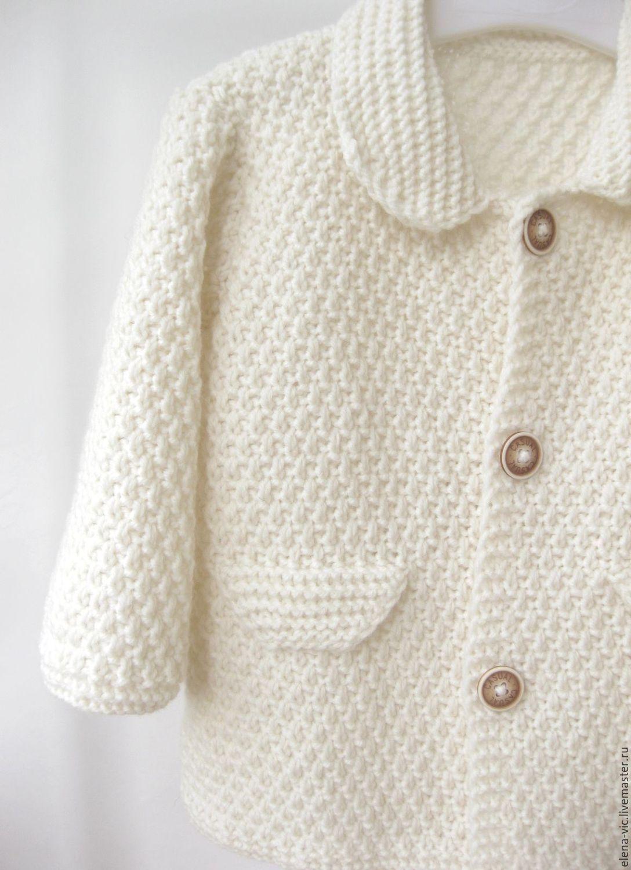 Купить Вязаный кардиган /вязаное пальто для девочки ...