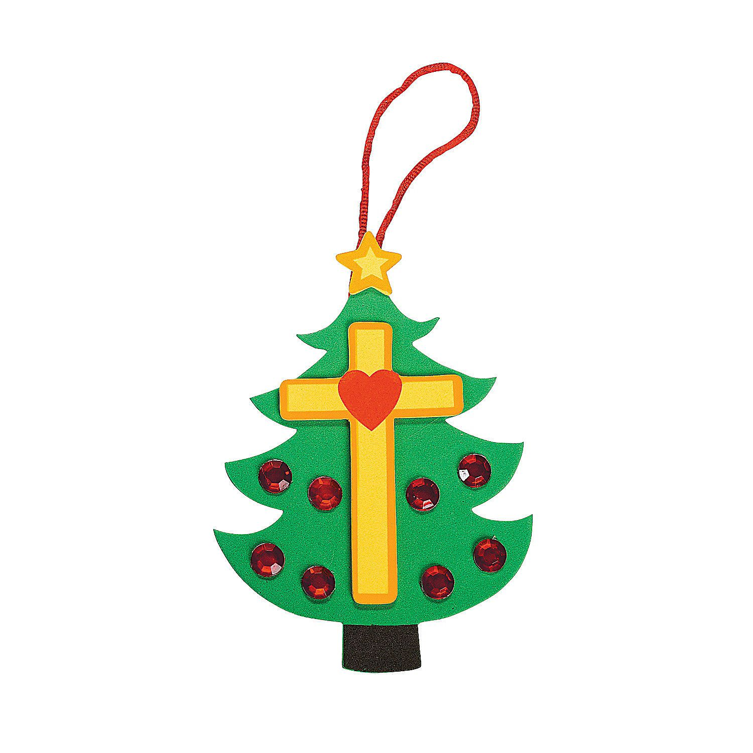 Christmas Tree Cross Foam Ornament Craft Kit  Orientaltradingcom -