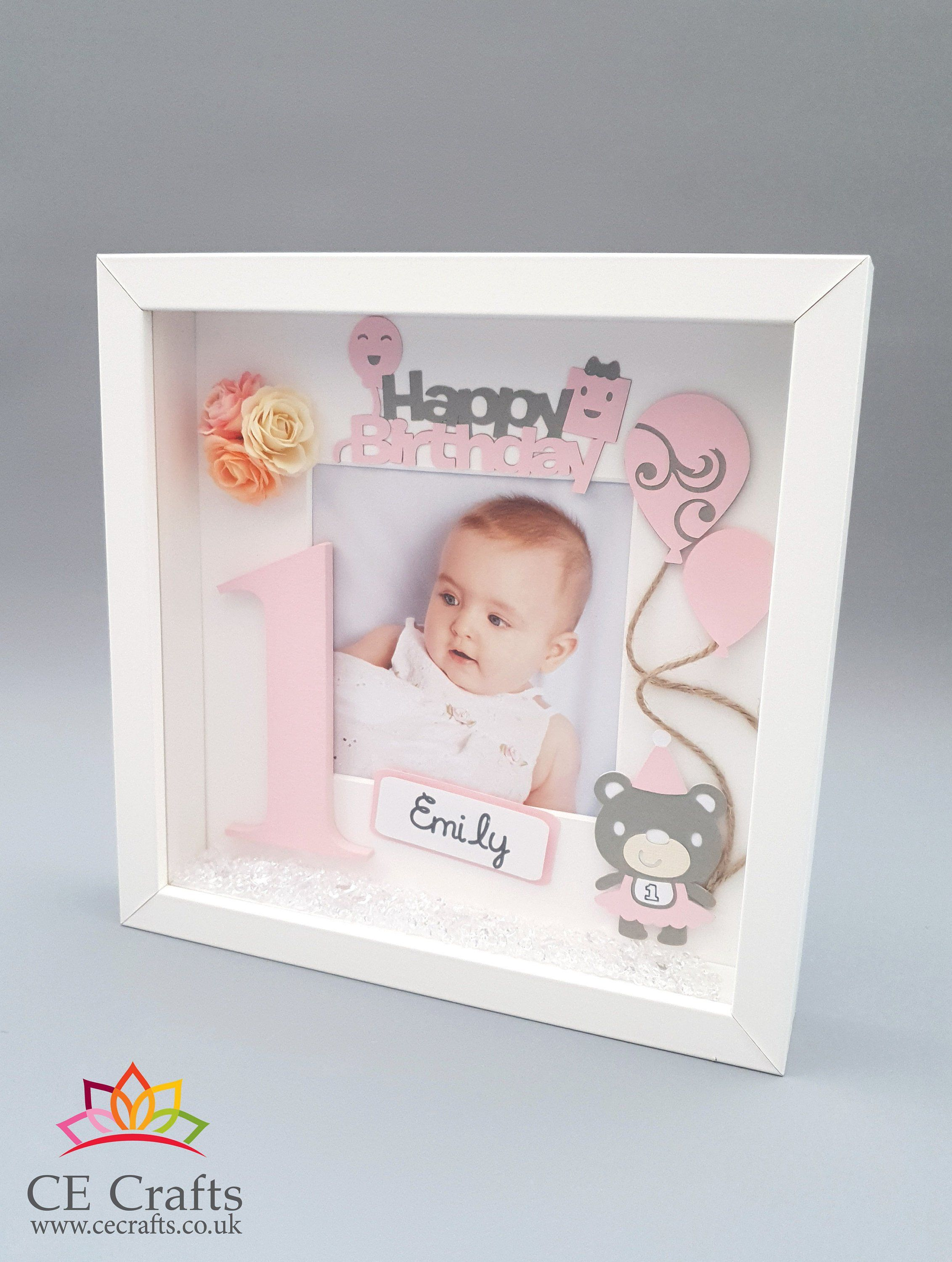 Personalised Baby Frame Letter 1st Birthday Gift