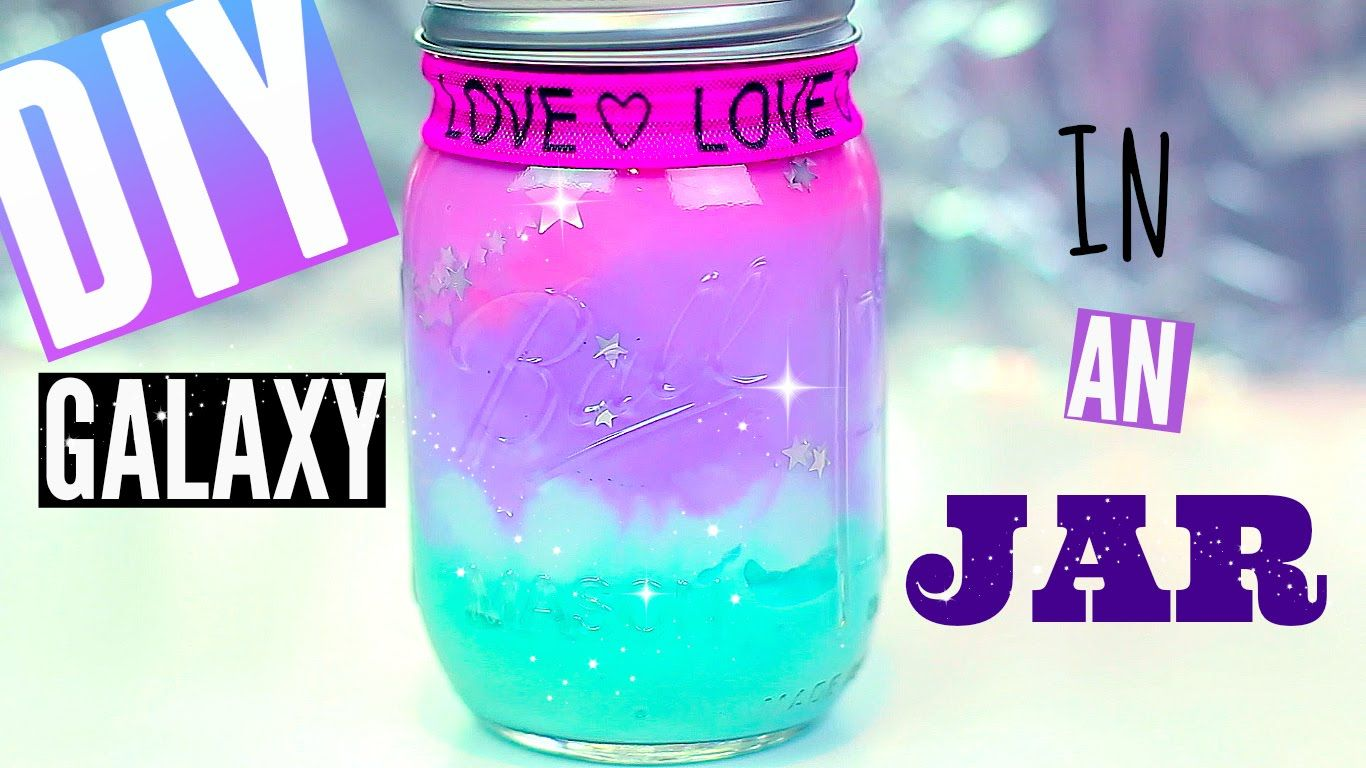 Diy Galaxy In A Jar With Pastel Colors Pinterest Tumblr Room Decor Ideas For Teens Cheap Tumblr Room Decor Galaxy Jar Tumblr Rooms