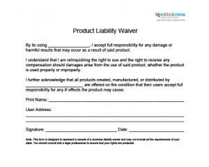 XProduct    Liability Waiver Template  Legal