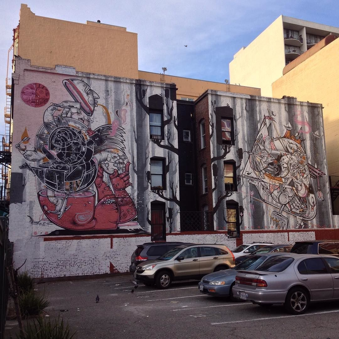 #Psychedelic #FacesOfSanFrancisco #StreetArt #SanFranciscoStreetArt #Mural #PublicArt #UrbanArt #Tenderloin #SanFrancisco #BayArea #BayAreaBuzz by pratidwandi