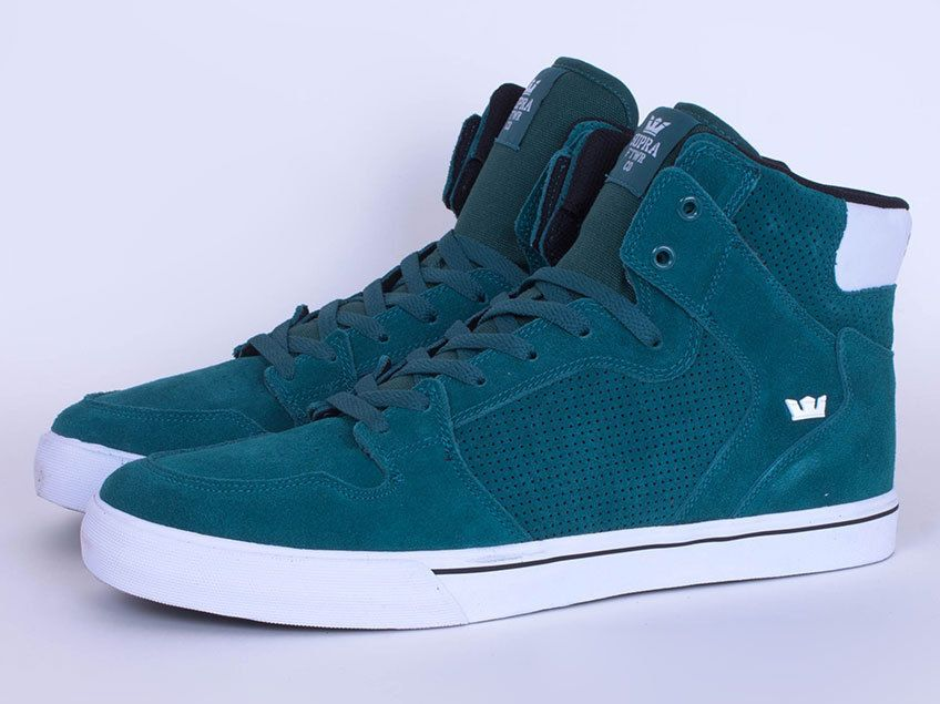 Mens Supra Vaider Hightop Boots Trainers Size UK 13 14 15 S28242 TGN  Pacific in Clothes d4d02f4c065a