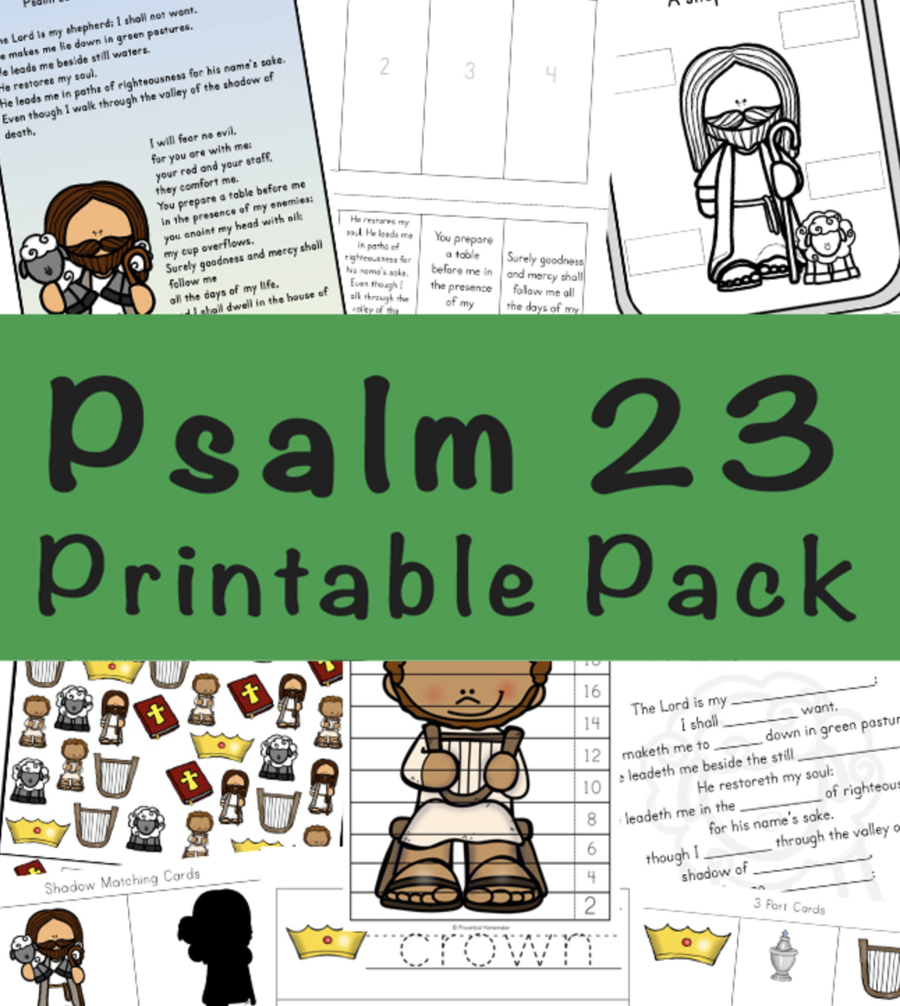 Free Psalm 23 Printable Pack
