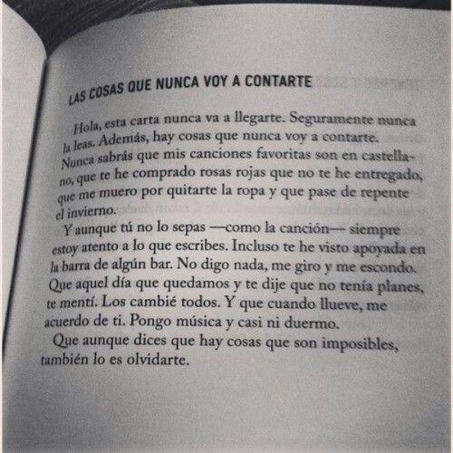 Las Cosas Que Nunca Te Dije At Poema At Amor At Tu Citas De