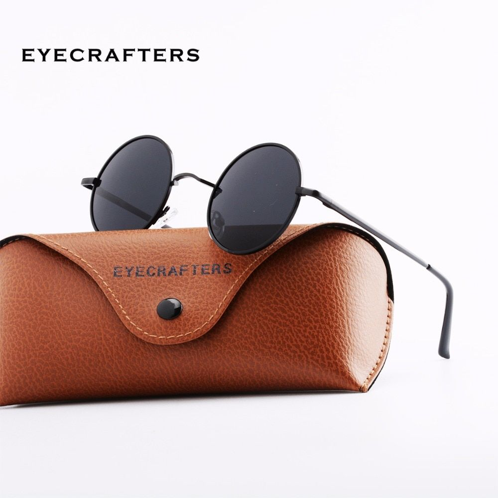 e9a0cca7af1f Men Small Vintage Retro John Lennon Glasses Women Driving Metal Eyewear New  Brand Designer Classic Polarized Round Sunglasses Review