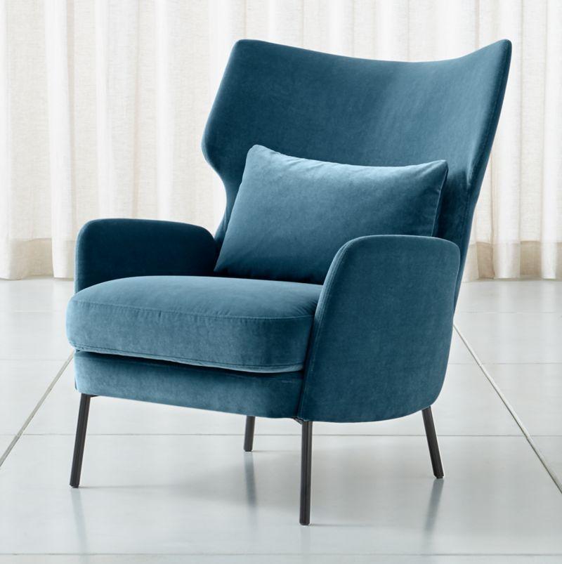 Alex navy blue velvet accent chair blue accent chairs