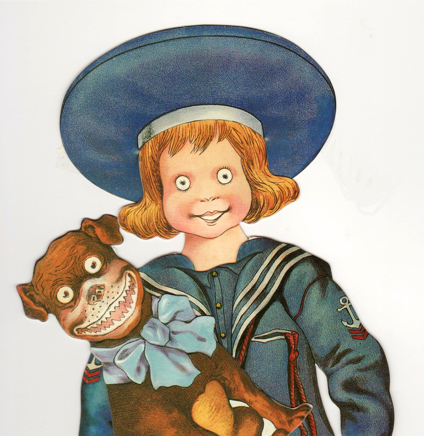 Paper Dolls Buster Brown Dog Tige Instant Download By