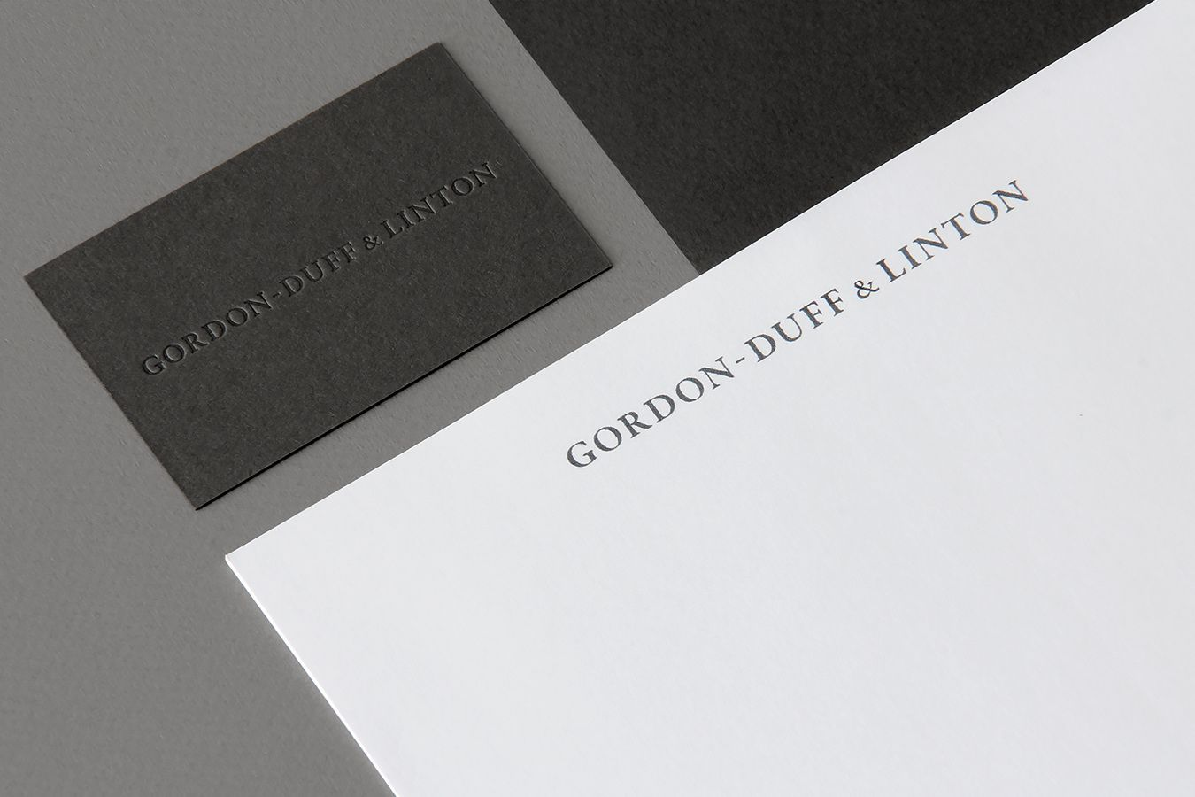 Visual identity, blind embossed business card and headed paper for ...