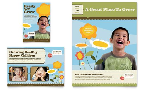 Child Development School - Flyer & Ad Template Design Sample ...