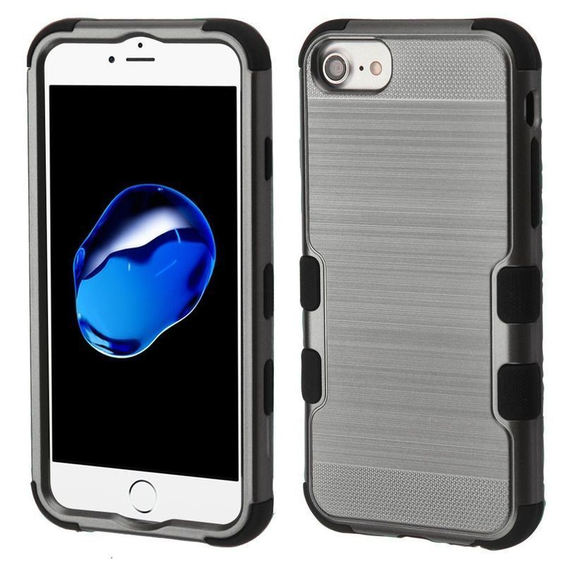 Insten Hard Snap-on Dual Layer Hybrid Brushed Case Cover For Apple iPhone 6/6s/7