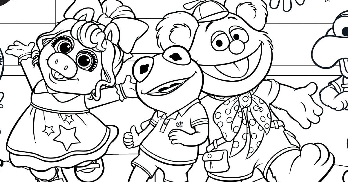 Have Some Family Fun with This 'Muppet Babies' Coloring
