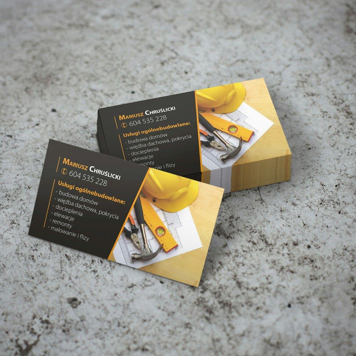 Projekt Wizytówki Dla Firmy Budowlanej Business Cards Books