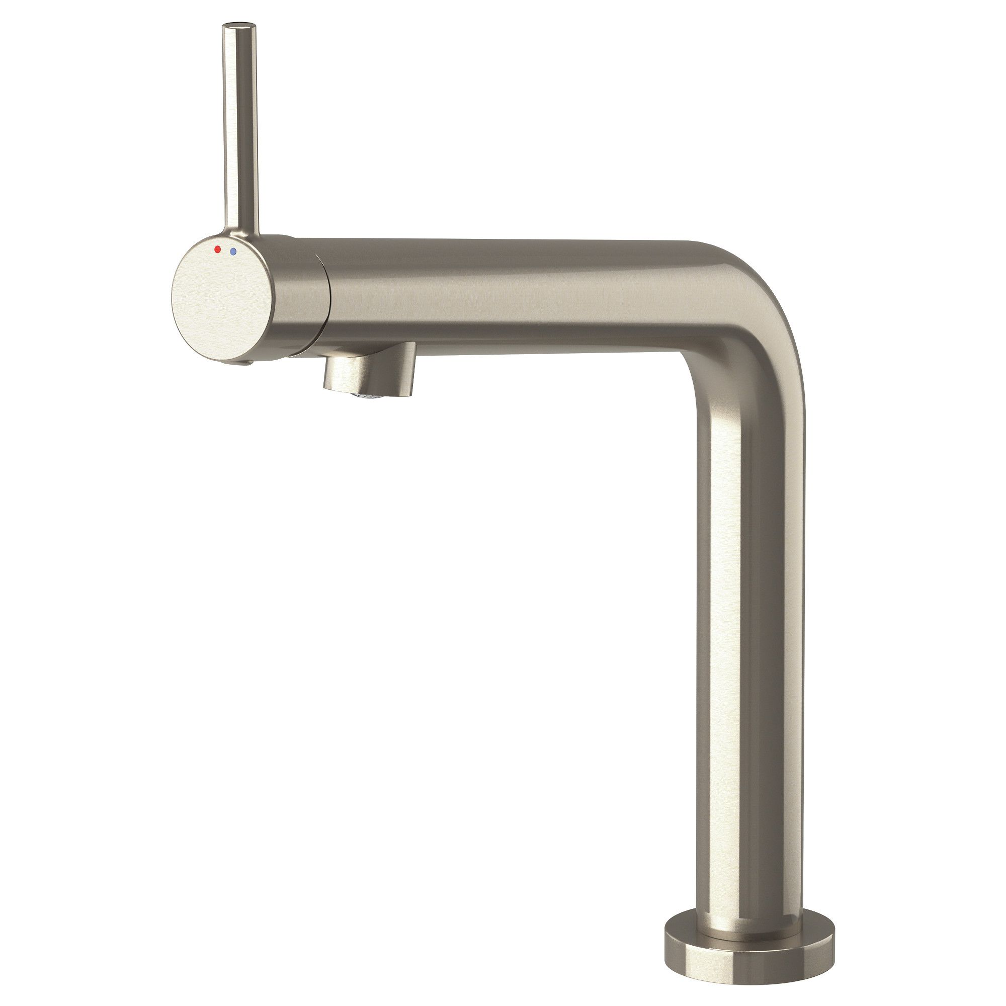 IKEA - BOSJÖN Kitchen faucet stainless steel color | Kitchen faucets ...