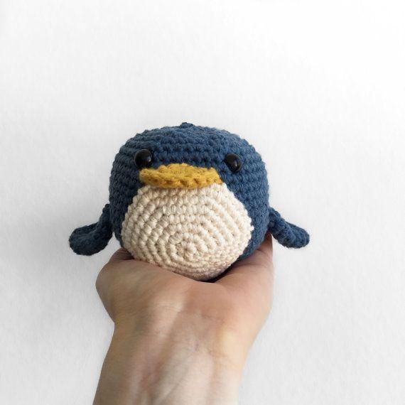 plush penguin  toy stuffed animal  by ThePartTimeHobbyist on Etsy