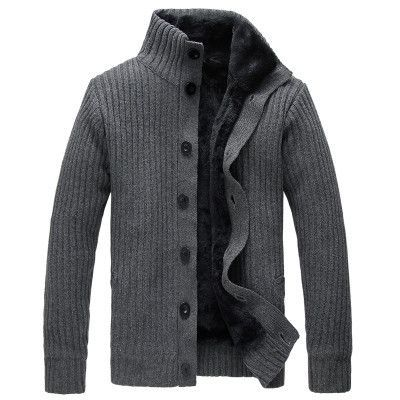 Mens Slim Casual Turtleneck Button-Up Sweater | Stylish men, Men's ...