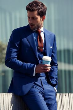 oxblood shoes blue suit - Google Search | Wedding | Pinterest ...