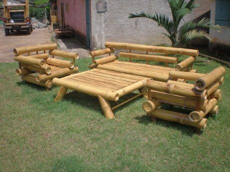 Moveis De Bambu Gigante Artesanato Com Bambu Mobiliario De