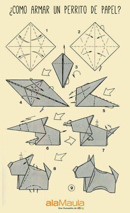 un perito de papel - origami
