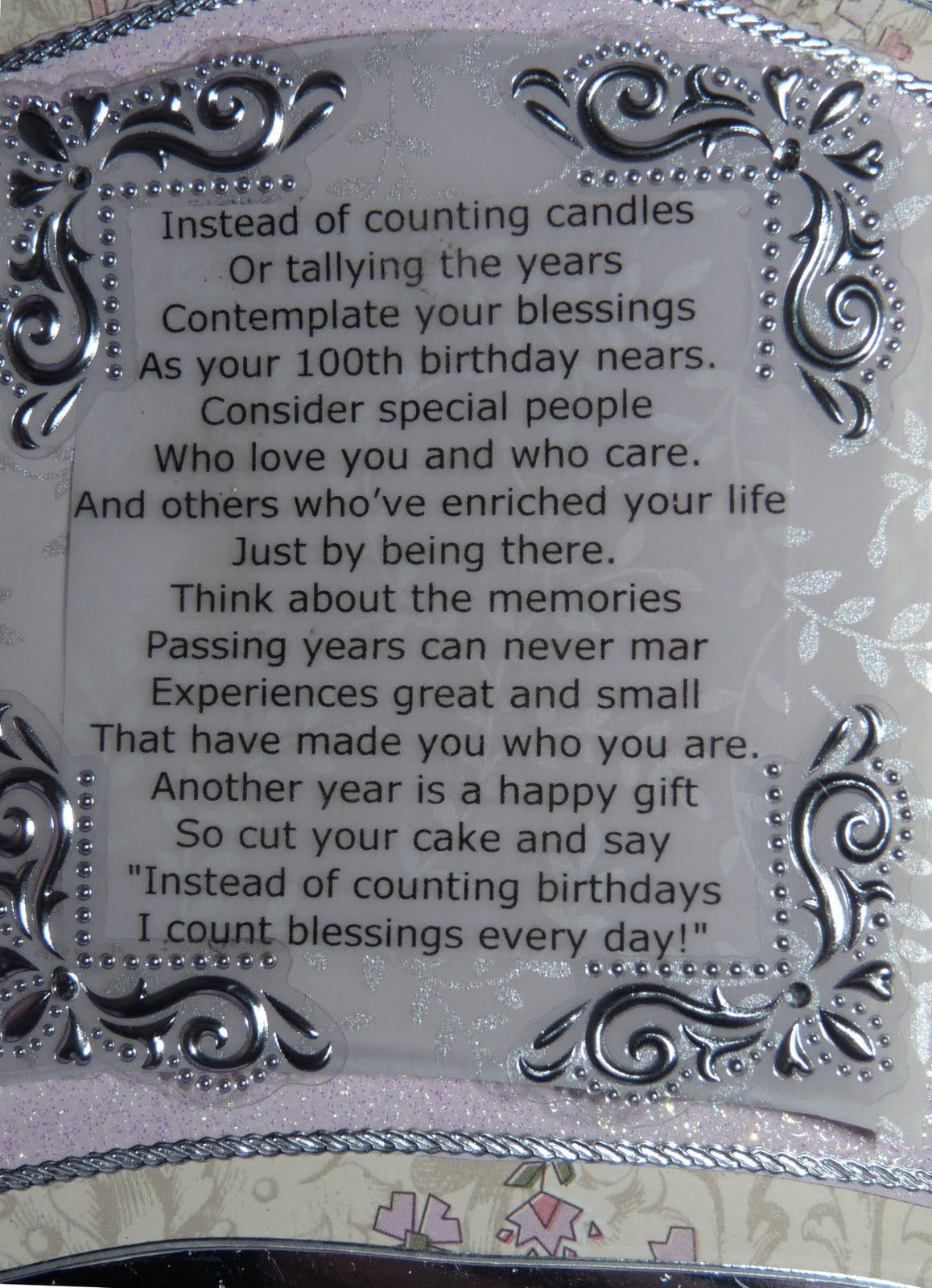 100th birthday poems for grandma | 100Th Birthday Poems ...