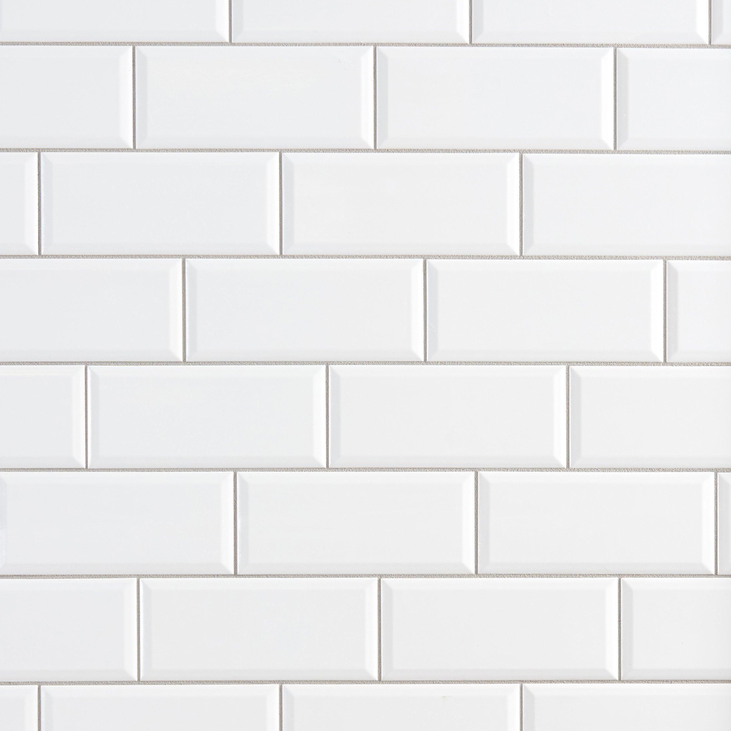 Ice Beveled Subway Tile Backsplash Amanwithfaith