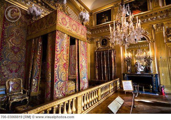 King's Bedroom, Palace of Versailles, Ile de France, France