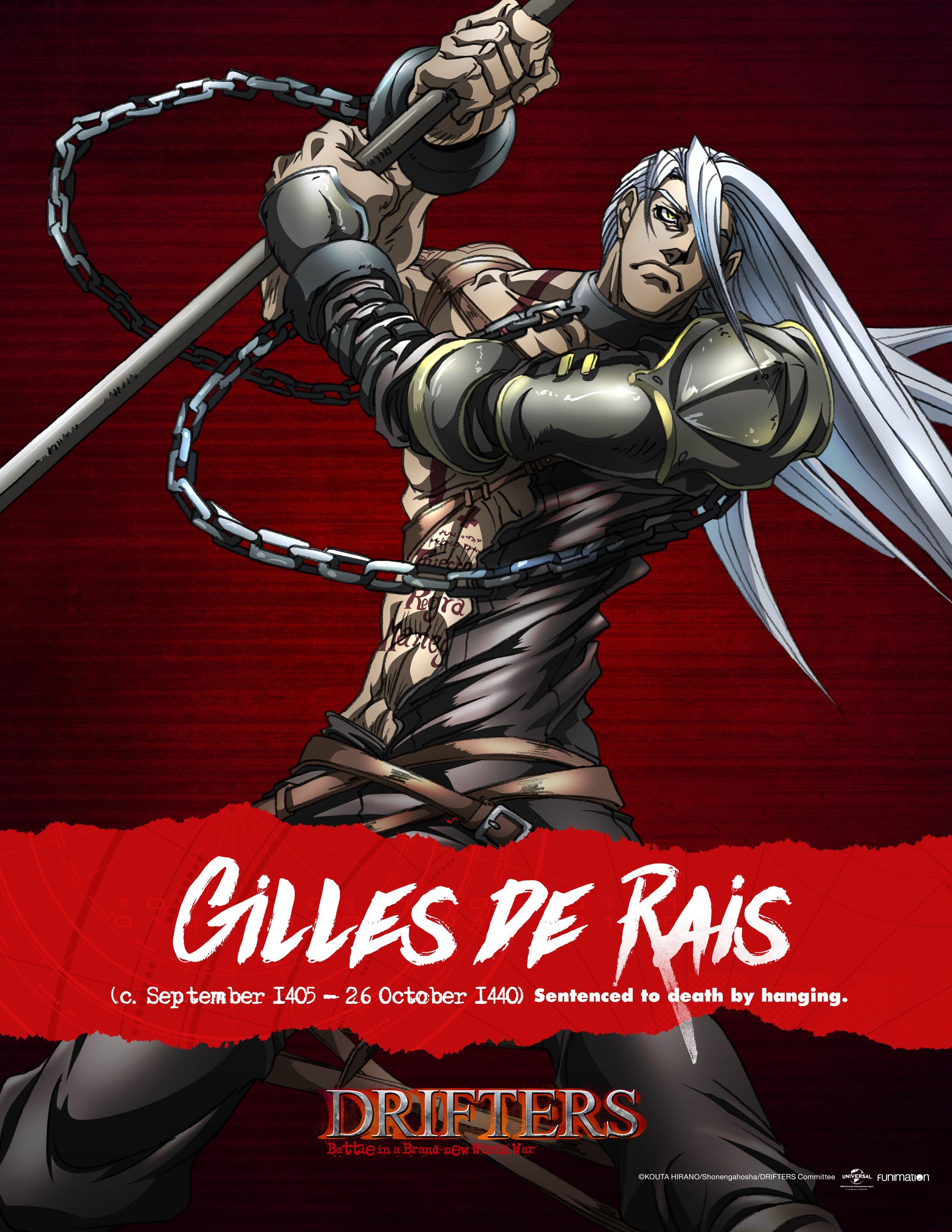 Gilles de Rais Drifters Anime fantasy, Anime, Manga anime
