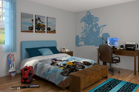 Atv Theme Boys Room Decor House Kids Room Bedroom Themes Bedding theme for boys bedroom