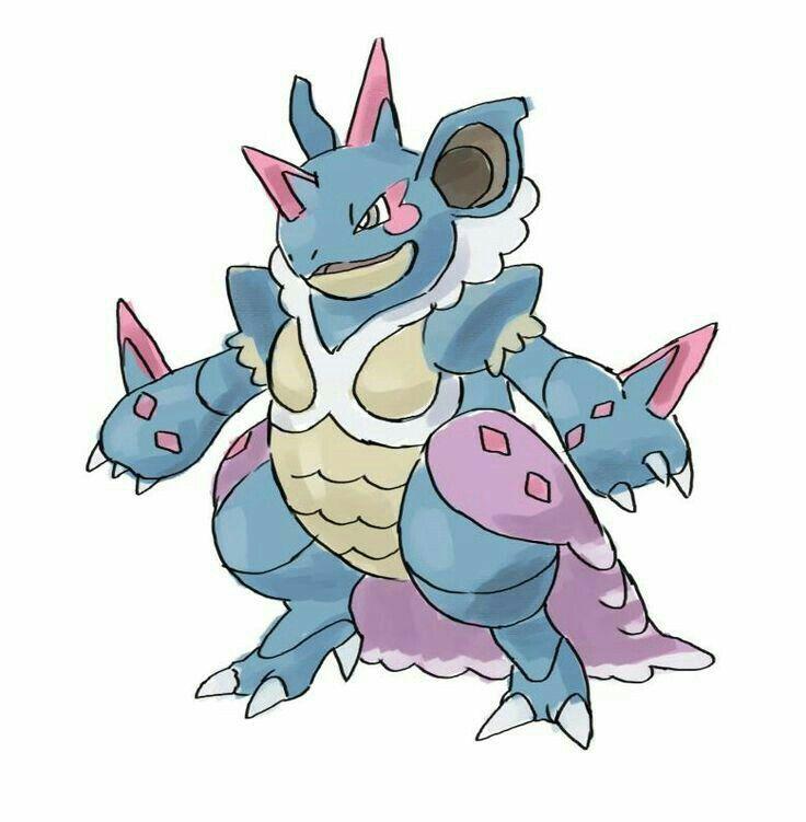 Fairy/Poison Nidoqueen variant | Pokemon, Desenhos, Fãs