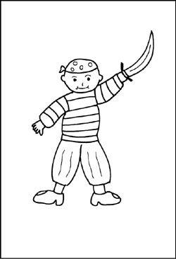 malvorlage pirat | fictional characters, character