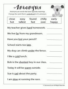 English Grammar Worksheets For Class 3 - Example Worksheet ...